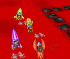 Micro Boats - Lava Race